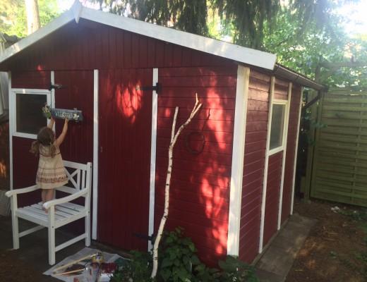 DIY Gartenhaus im Schwedenlook Frau Mutter Blog