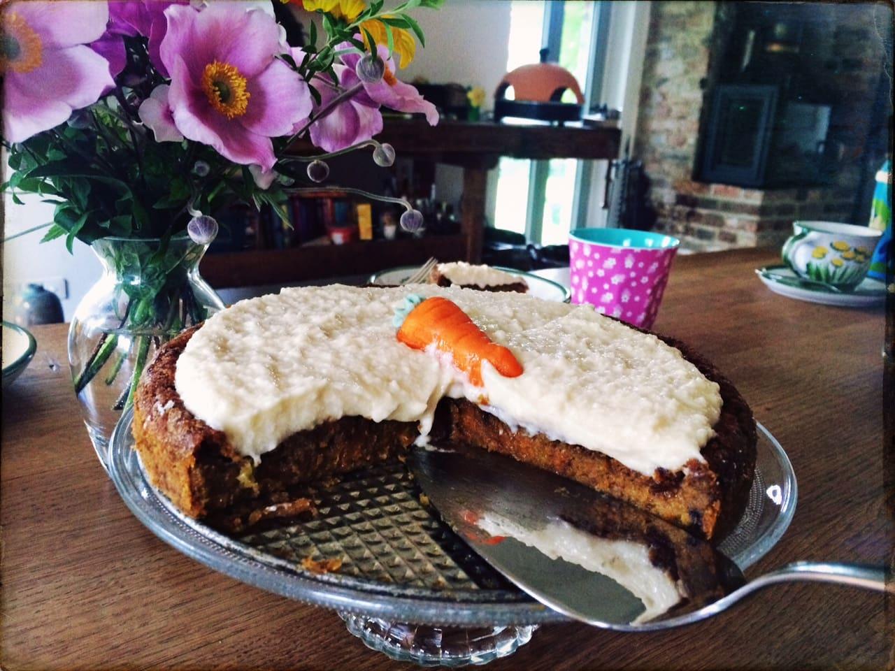 Karottenkuchen vegan rezept frau mutter blog