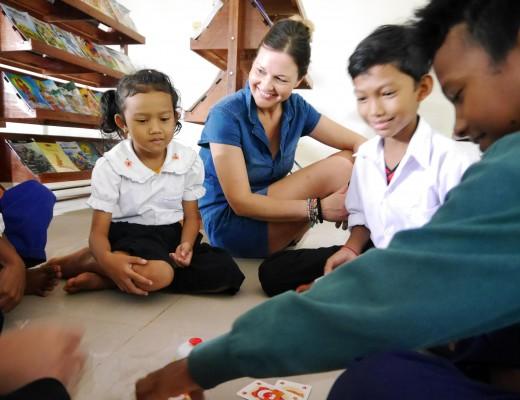 Kinderdorf in Kambodscha