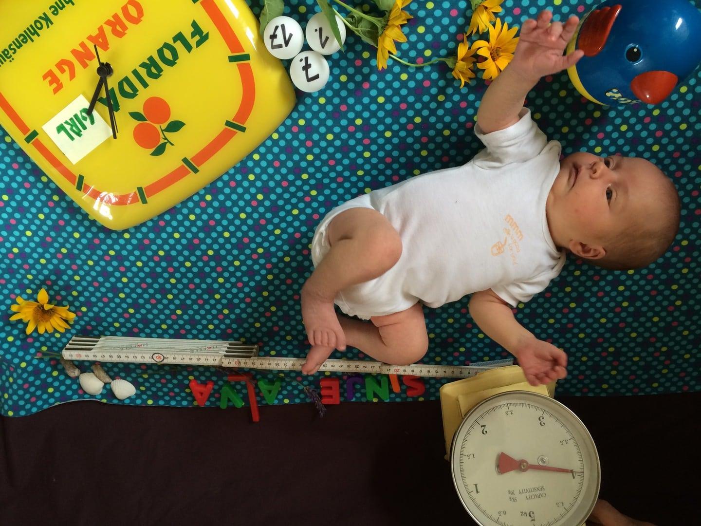Geburtsanzeige basteln