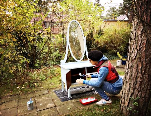 upcycling alte frisierkommode