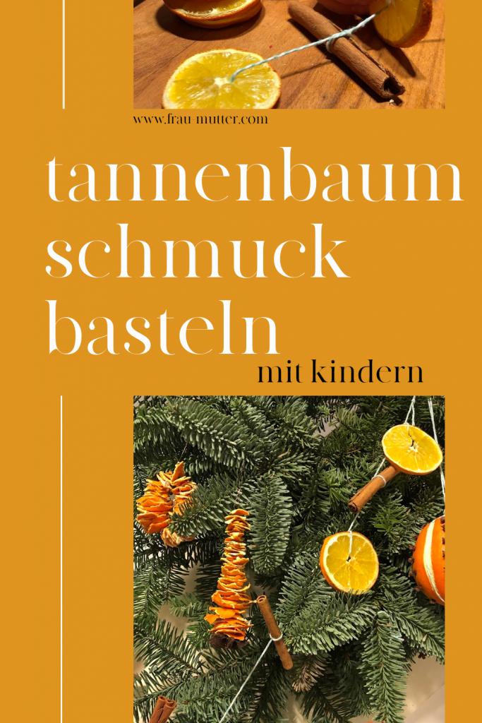 Tannenbaumschmuck basteln Orangen